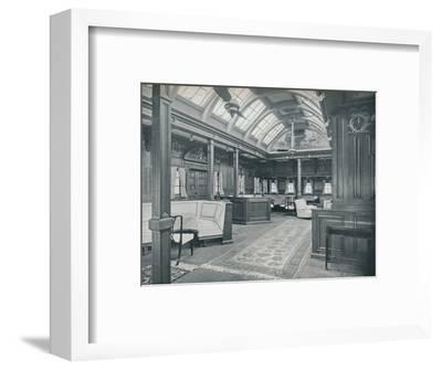 'The Royal Smoking Room', 1911-Unknown-Framed Photographic Print