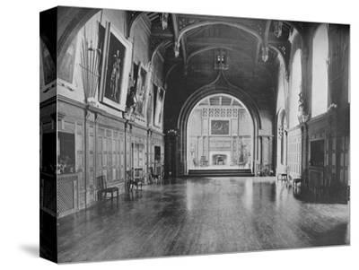 'Bamburgh Castle, Northumberland - The Lord Armstrong', 1910-Unknown-Stretched Canvas Print