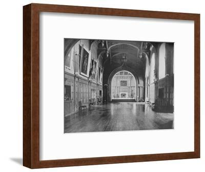 'Bamburgh Castle, Northumberland - The Lord Armstrong', 1910-Unknown-Framed Photographic Print