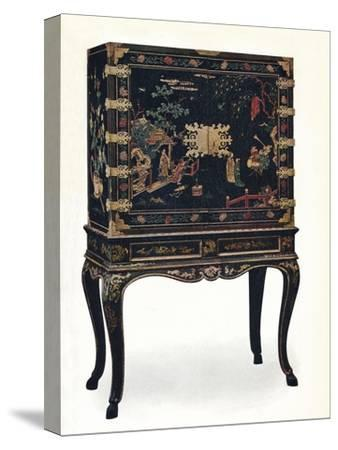'Incised Lacquered Cabinet', c1680, (1910).-Unknown-Stretched Canvas Print