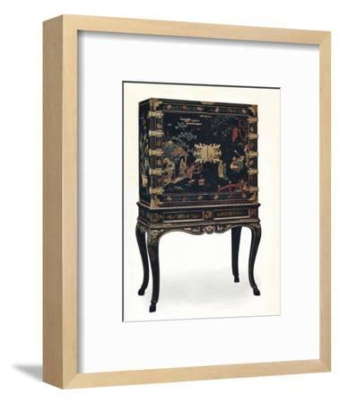 'Incised Lacquered Cabinet', c1680, (1910).-Unknown-Framed Giclee Print