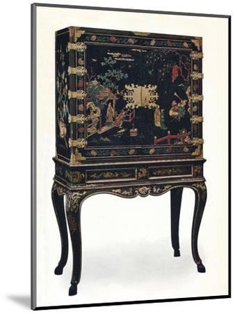 'Incised Lacquered Cabinet', c1680, (1910).-Unknown-Mounted Giclee Print