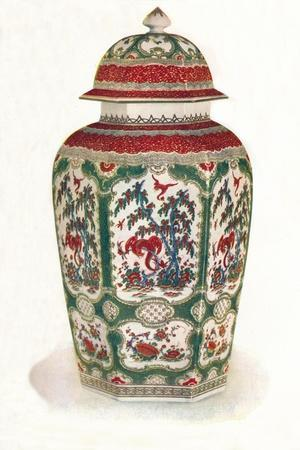 'One of a Pair of Worcester Vases', 1911-Unknown-Framed Giclee Print