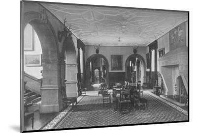 'Dunster Castle, Somerset - Earl of Carhampton', 1910-Unknown-Mounted Photographic Print