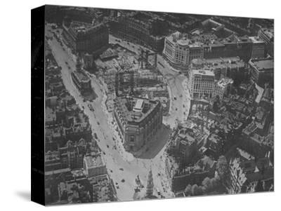 Bird's-eye view of the surroundings of Bush House, London, 1924-Unknown-Stretched Canvas Print