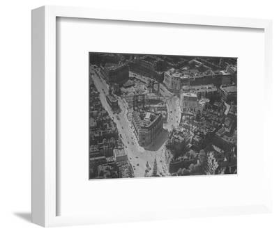 Bird's-eye view of the surroundings of Bush House, London, 1924-Unknown-Framed Photographic Print