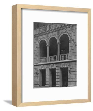 Main entrance of the Fraternity Clubs Building, New York City, 1924-Unknown-Framed Photographic Print
