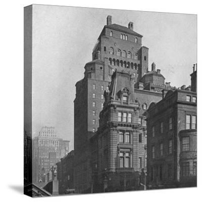 The Fraternity Clubs Building from Madison Avenue, New York City, 1924-Unknown-Stretched Canvas Print
