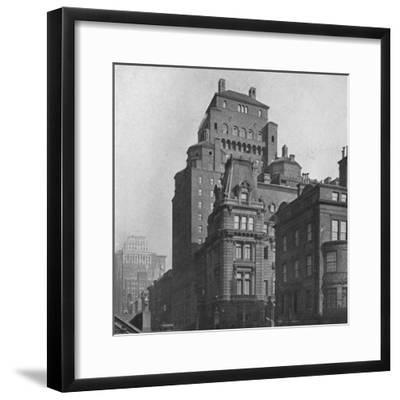The Fraternity Clubs Building from Madison Avenue, New York City, 1924-Unknown-Framed Photographic Print