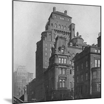 The Fraternity Clubs Building from Madison Avenue, New York City, 1924-Unknown-Mounted Photographic Print