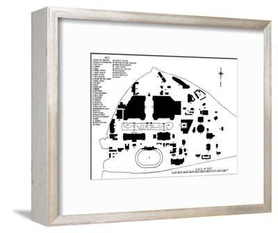 Plan of the British Empire Exhibition, Wembley, showing disposition of principal buildings, 1924-Unknown-Framed Giclee Print