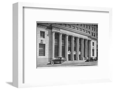Main entrance to the Bank of Italy, Los Angeles, California, 1924-Unknown-Framed Photographic Print