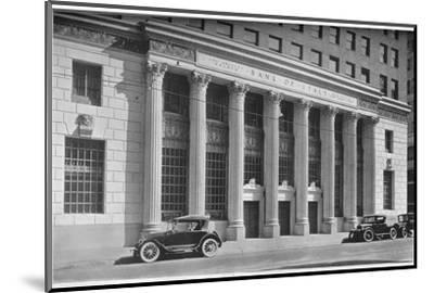 Main entrance to the Bank of Italy, Los Angeles, California, 1924-Unknown-Mounted Photographic Print