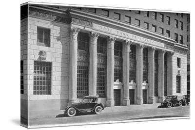 Main entrance to the Bank of Italy, Los Angeles, California, 1924-Unknown-Stretched Canvas Print