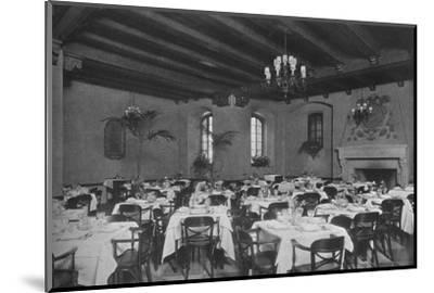 South-east dining room, the Fraternity Clubs Building, New York City, 1924-Unknown-Mounted Photographic Print