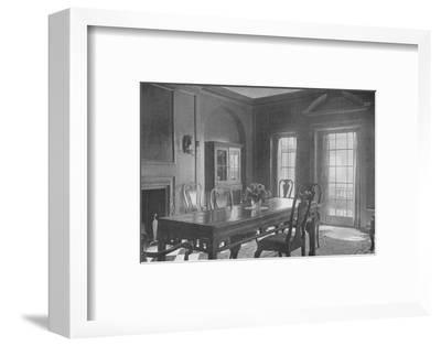 Dining room, looking towards the garden terrace, house of Mrs WK Vanderbilt, New York City, 1924-Unknown-Framed Photographic Print