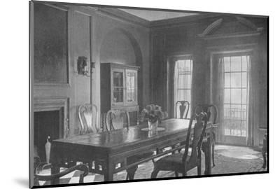 Dining room, looking towards the garden terrace, house of Mrs WK Vanderbilt, New York City, 1924-Unknown-Mounted Photographic Print