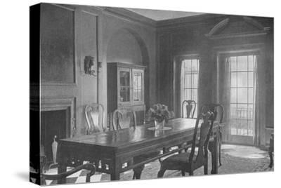 Dining room, looking towards the garden terrace, house of Mrs WK Vanderbilt, New York City, 1924-Unknown-Stretched Canvas Print