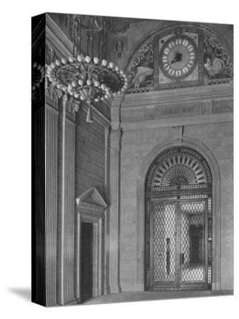 End of main entrance hall, Standard Oil Building, New York City, 1924-Unknown-Stretched Canvas Print