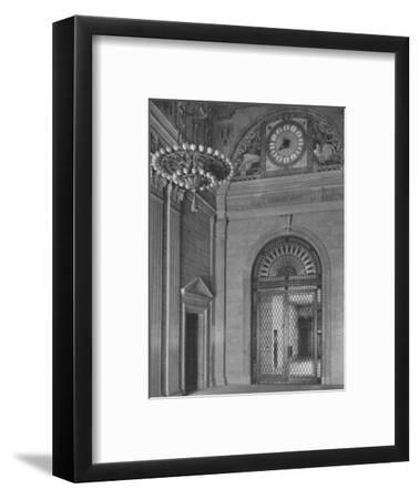 End of main entrance hall, Standard Oil Building, New York City, 1924-Unknown-Framed Photographic Print