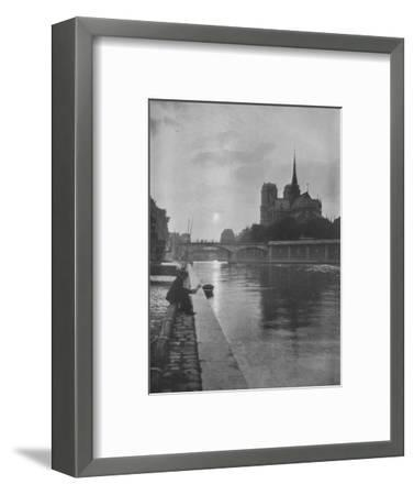 Notre Dame from the river, Paris, 1924-Unknown-Framed Photographic Print