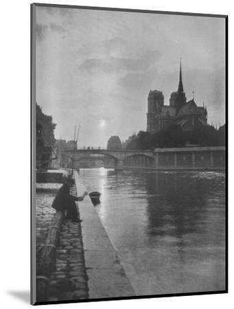 Notre Dame from the river, Paris, 1924-Unknown-Mounted Photographic Print