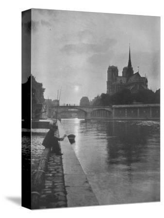Notre Dame from the river, Paris, 1924-Unknown-Stretched Canvas Print