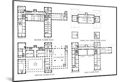 Floor plans, Federal Building, Honolulu, Hawaii, 1924-Unknown-Mounted Giclee Print