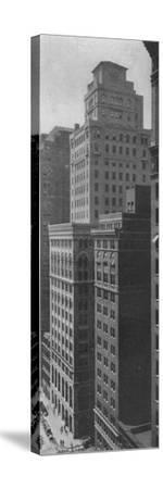 General view of the Johns-Manville Building, New York City, 1924-Unknown-Stretched Canvas Print