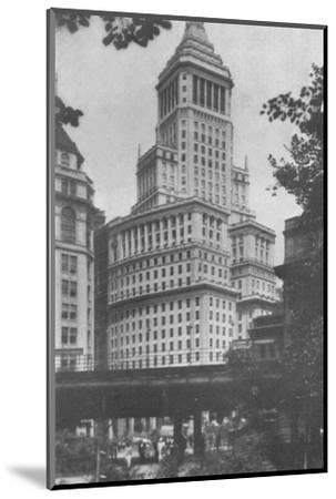 Standard Oil Building, New York City, 1924-Unknown-Mounted Photographic Print
