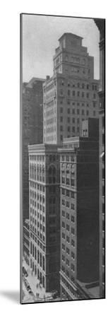 General view of the Johns-Manville Building, New York City, 1924-Unknown-Mounted Photographic Print