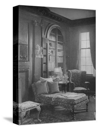 Comfortable corner in the library showing bookcase, house of Miss Anne Morgan, New York City, 1924-Unknown-Stretched Canvas Print