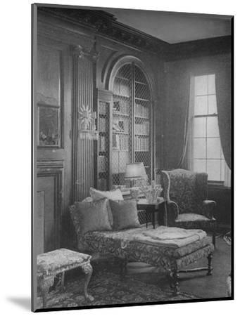 Comfortable corner in the library showing bookcase, house of Miss Anne Morgan, New York City, 1924-Unknown-Mounted Photographic Print