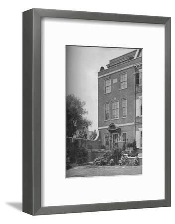 East front with terrace and garden gate, house of Mrs WK Vanderbilt, New York City, 1924-Unknown-Framed Photographic Print