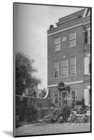East front with terrace and garden gate, house of Mrs WK Vanderbilt, New York City, 1924-Unknown-Mounted Photographic Print