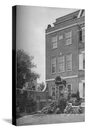 East front with terrace and garden gate, house of Mrs WK Vanderbilt, New York City, 1924-Unknown-Stretched Canvas Print