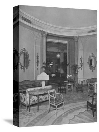 Looking from the Oval Palm Room into the Main Dining Room, Roosevelt Hotel, New York City, 1924-Unknown-Stretched Canvas Print