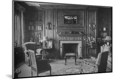 Old Georgian panelling in Miss Morgan's Office, house of Miss Anne Morgan, New York City, 1924-Unknown-Mounted Photographic Print