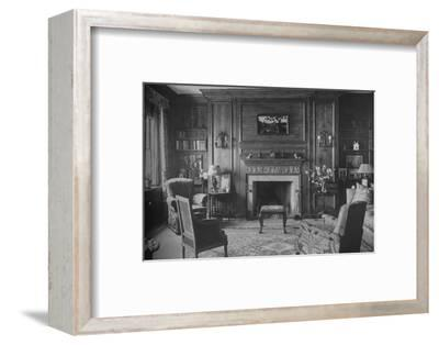 Old Georgian panelling in Miss Morgan's Office, house of Miss Anne Morgan, New York City, 1924-Unknown-Framed Photographic Print