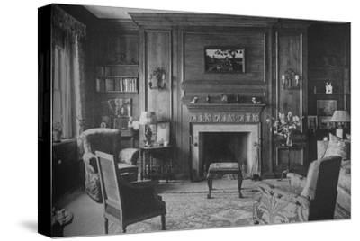 Old Georgian panelling in Miss Morgan's Office, house of Miss Anne Morgan, New York City, 1924-Unknown-Stretched Canvas Print