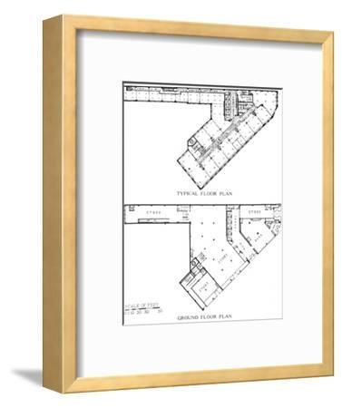 Floor plans, the Genesee Building, Buffalo, New York, 1924-Unknown-Framed Photographic Print