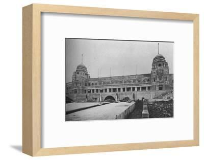 Approach to Wembley Stadium, British Empire Exhibition, London, 1924-Unknown-Framed Photographic Print
