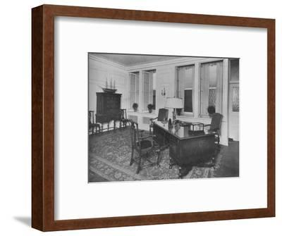 Office of the President, American Press Association, New York City, 1924-Unknown-Framed Photographic Print