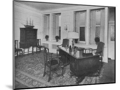 Office of the President, American Press Association, New York City, 1924-Unknown-Mounted Photographic Print