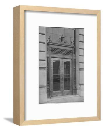 Detail of side entrance door, Phoenix National Bank, 1924-Unknown-Framed Photographic Print