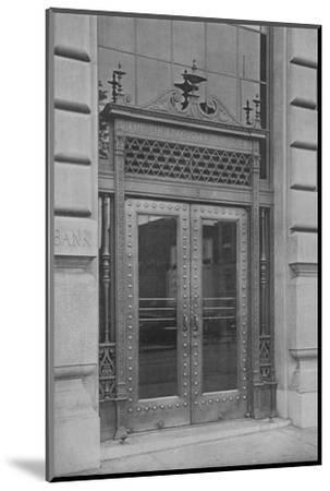 Detail of side entrance door, Phoenix National Bank, 1924-Unknown-Mounted Photographic Print