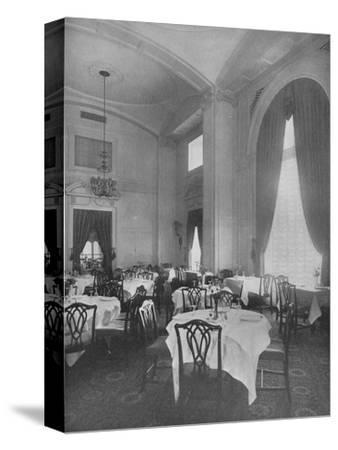 Corner of Main Dining Room showing fine Colonial detail, Roosevelt Hotel, New York City, 1924-Unknown-Stretched Canvas Print