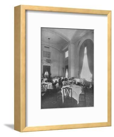 Corner of Main Dining Room showing fine Colonial detail, Roosevelt Hotel, New York City, 1924-Unknown-Framed Photographic Print