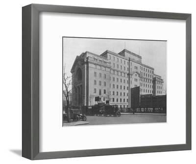 Centre Block of Bush House, London, from Aldwych, 1924-Unknown-Framed Photographic Print