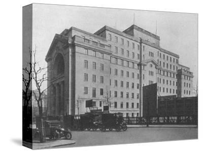 Centre Block of Bush House, London, from Aldwych, 1924-Unknown-Stretched Canvas Print